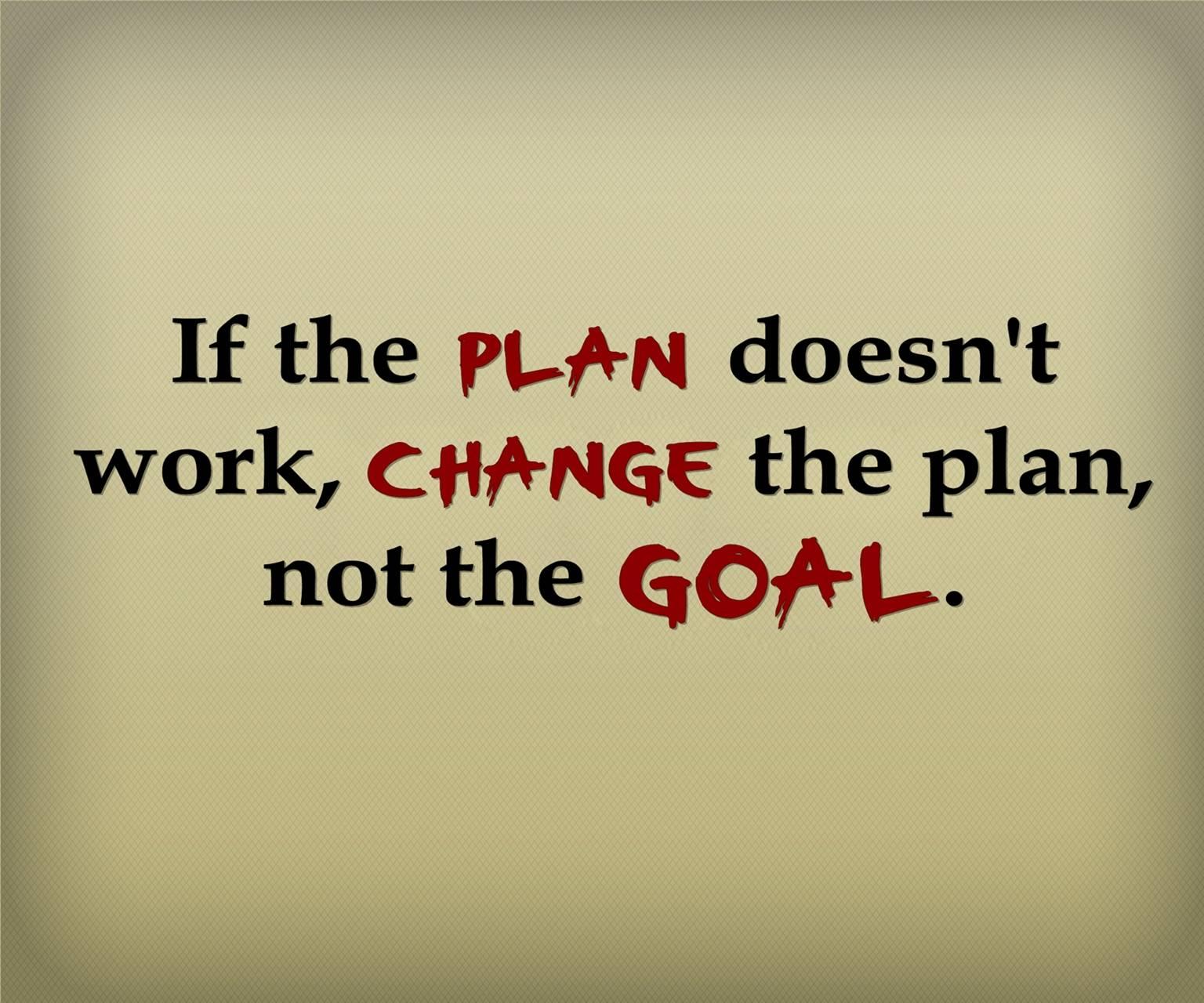 plan not goal