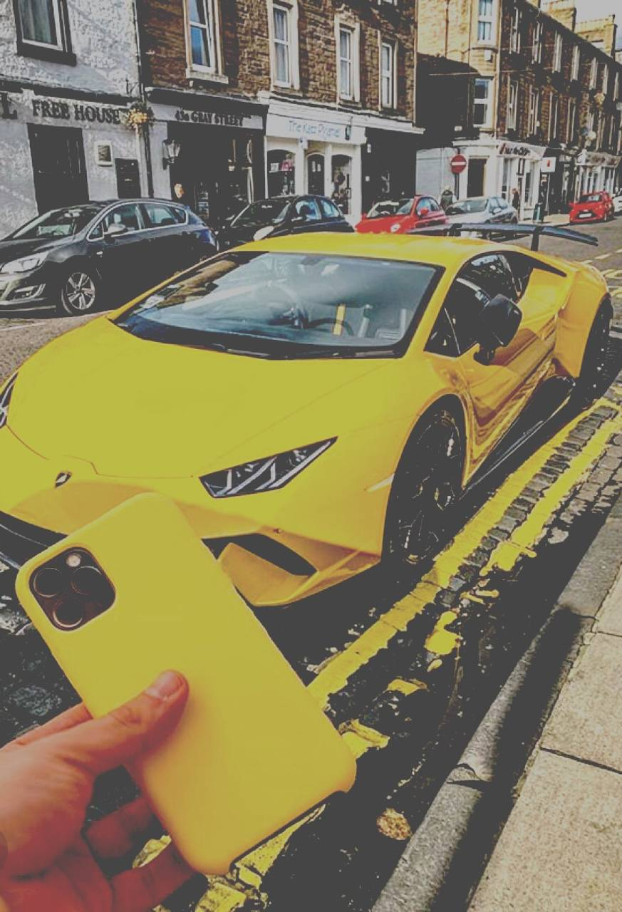 Sportscar and iphone
