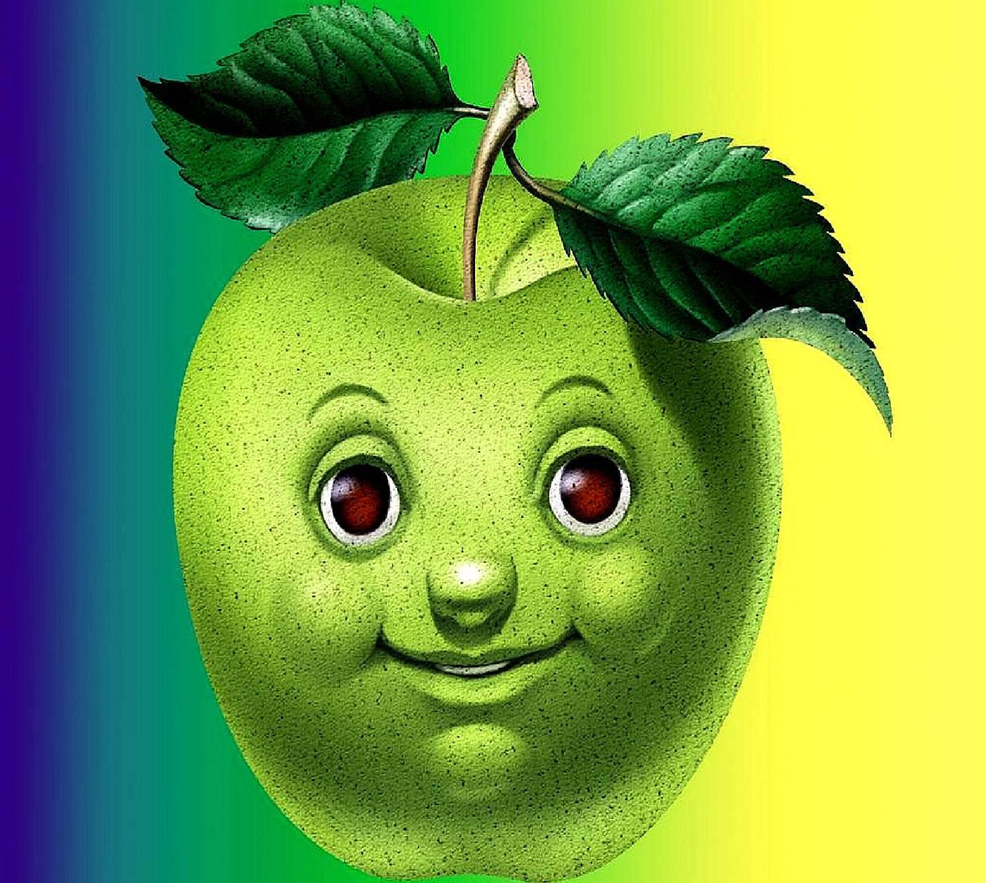 Для папы, прикольные картинки о яблочке