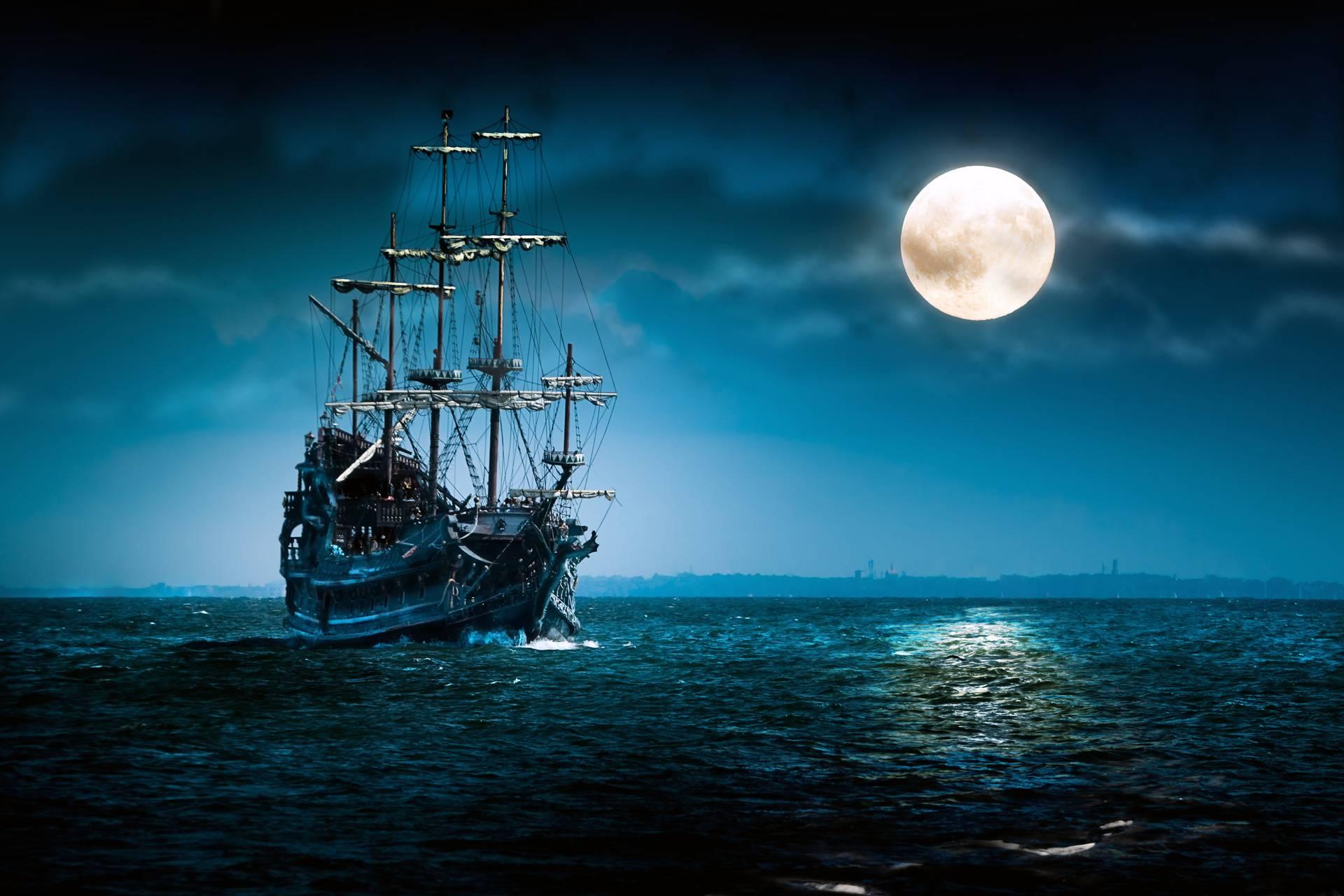 night in ocean