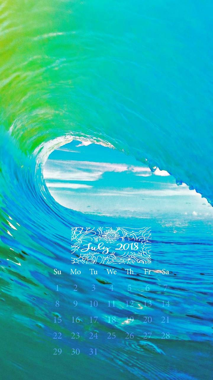 Waves July Calendar