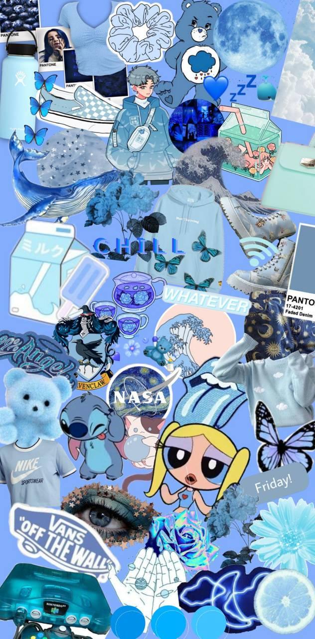 blue aesthetic wallpaper by leotheminidino