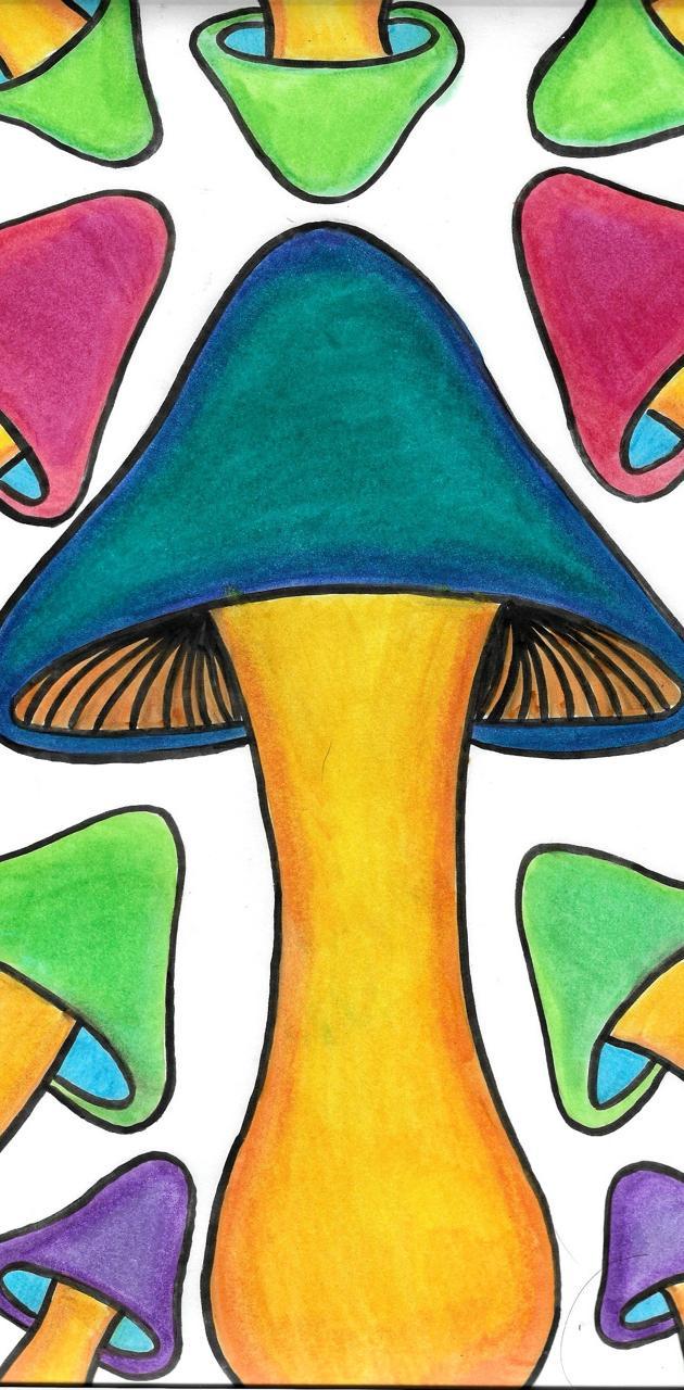 Trippy Mushroom Art