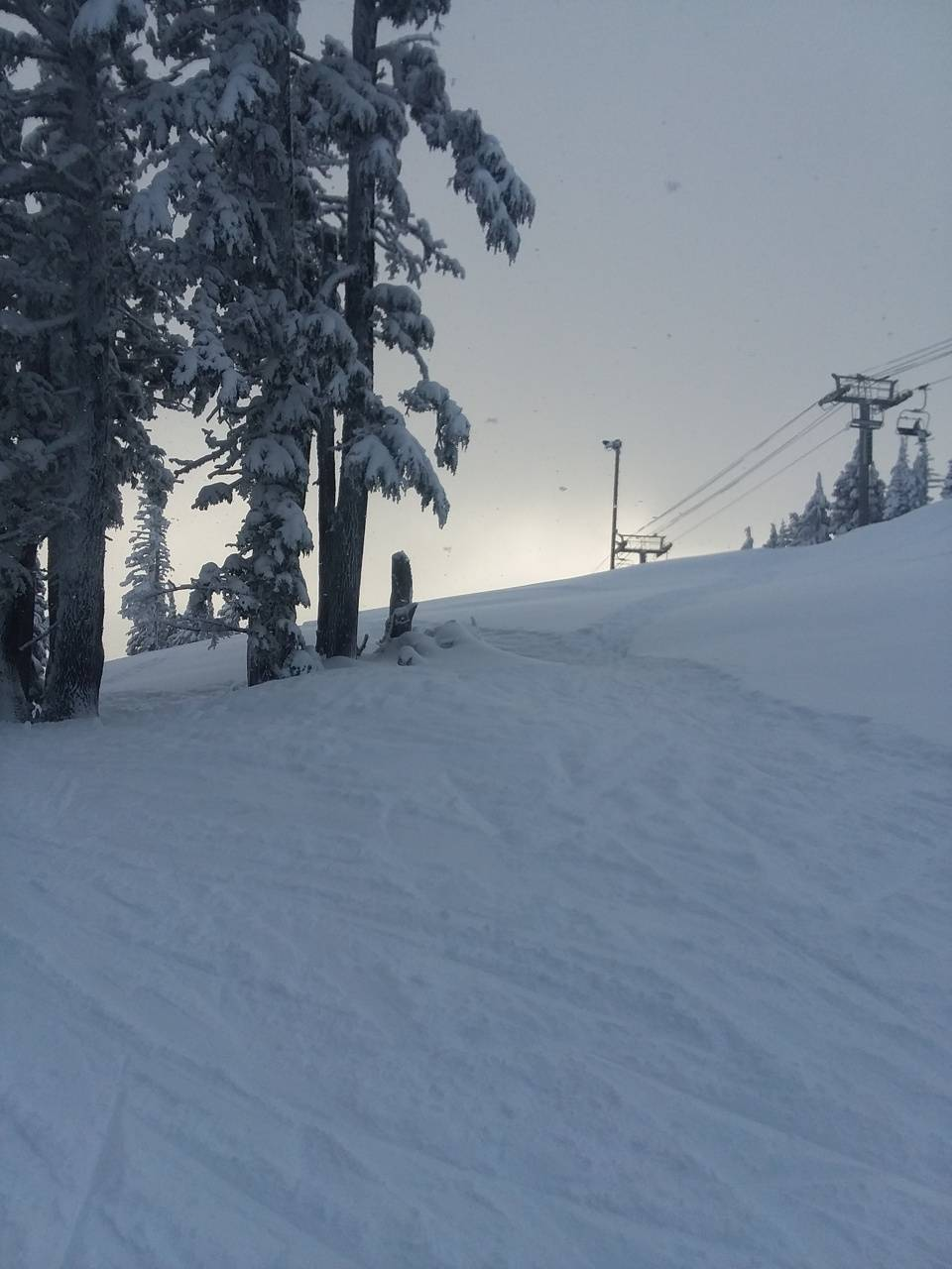 Skiing on mt Hood