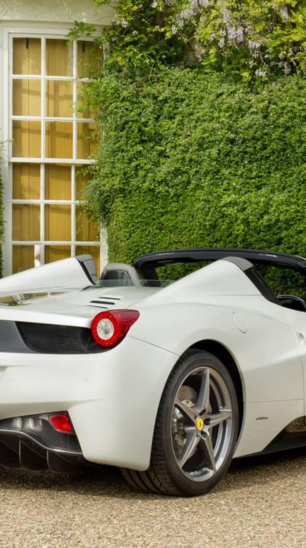 white 458 roadster