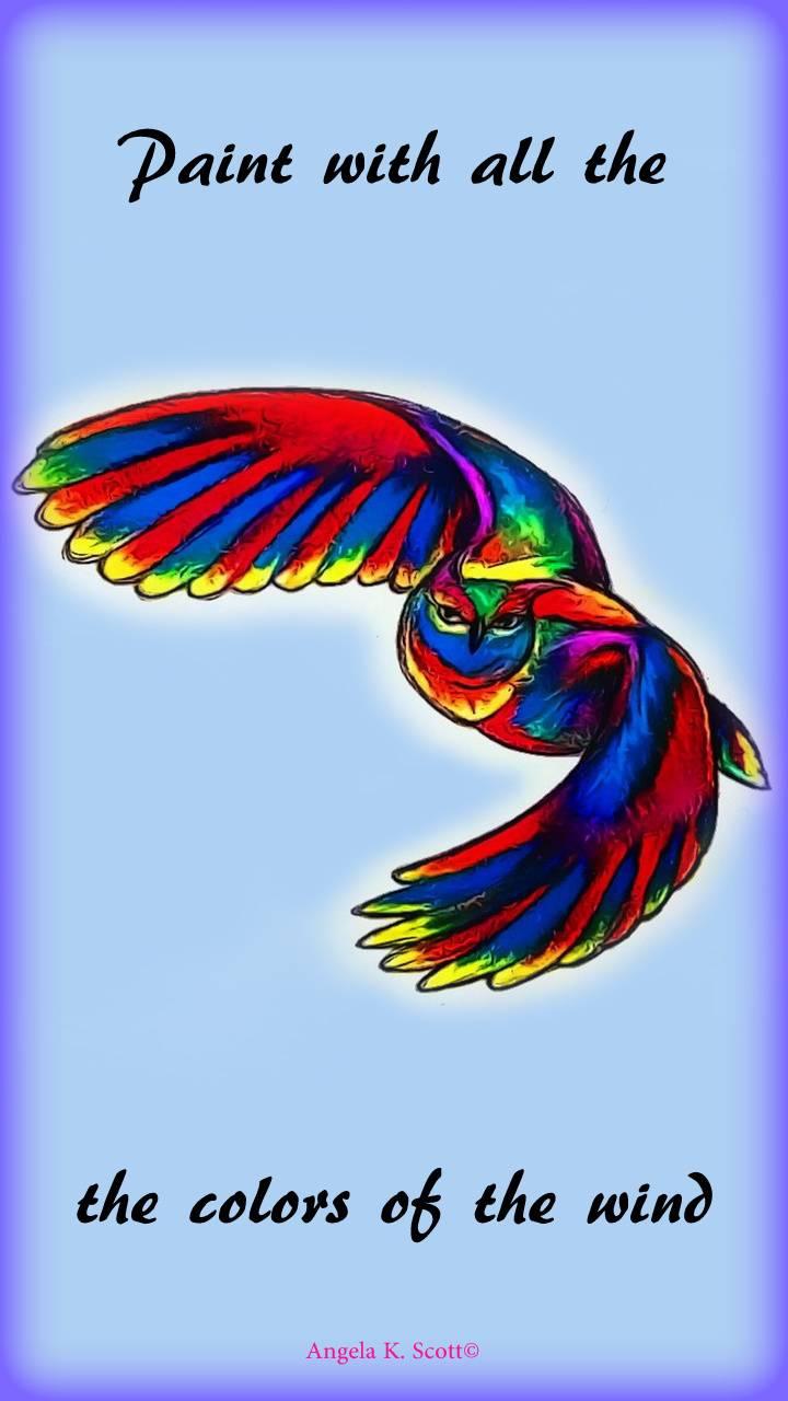 Rainbow Owl art