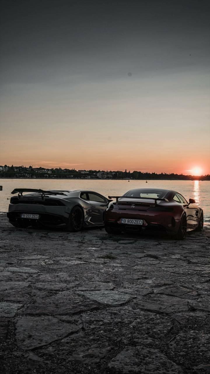 Supercar sunset