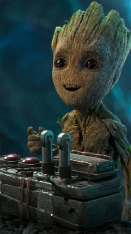 Groot with bomb
