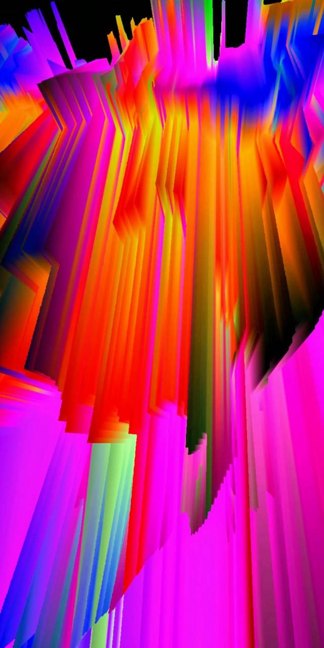 Colorful warerfall
