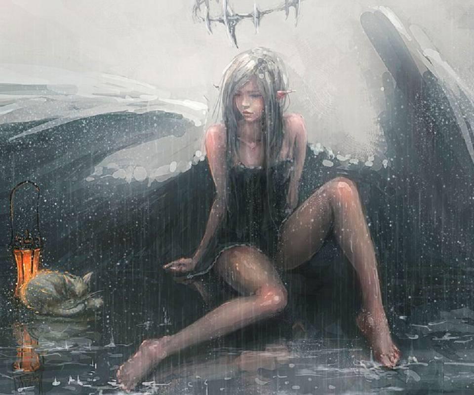 Angel In Rain