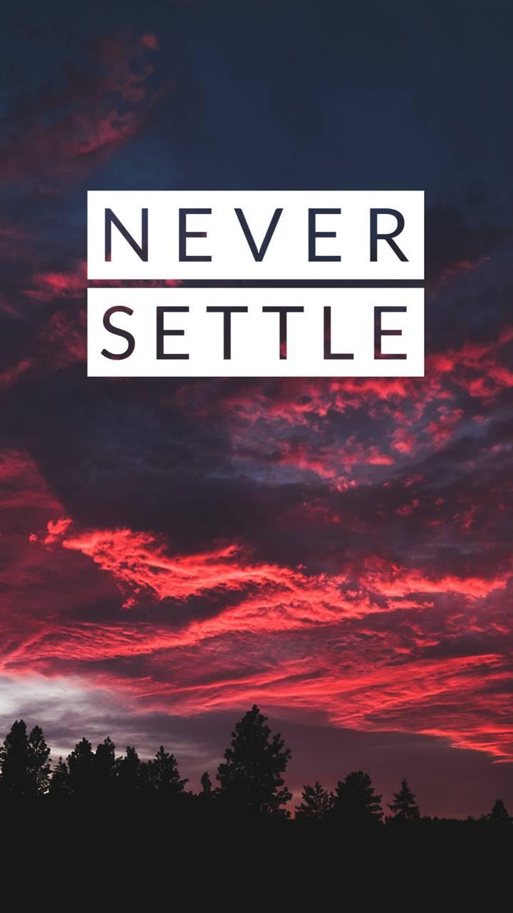 Never Settle 1