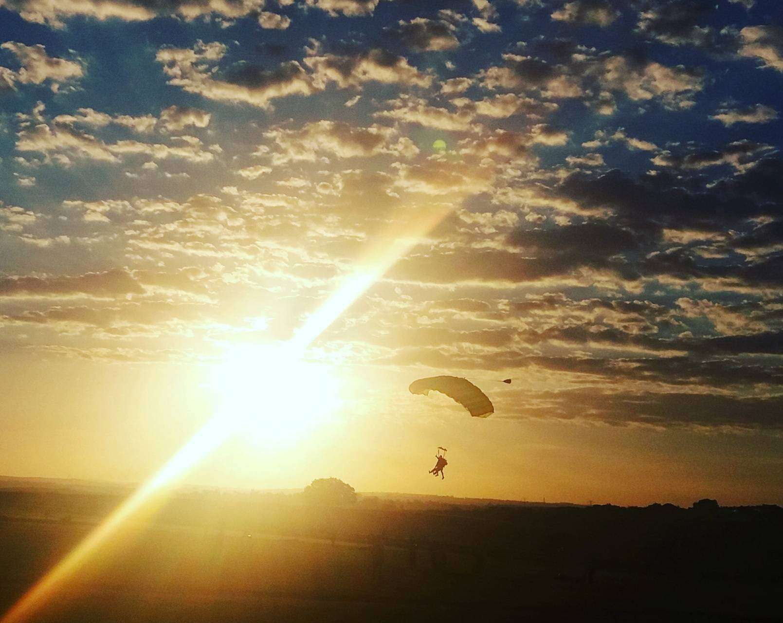 Sunset skydive