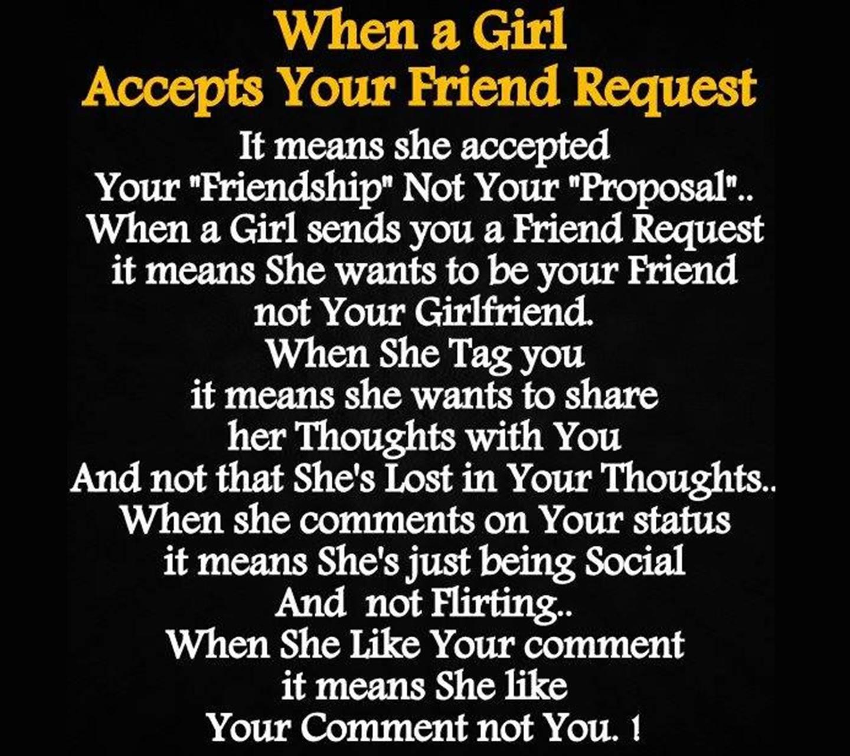 When a girl accepts