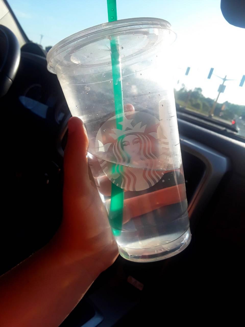 Starbucks water