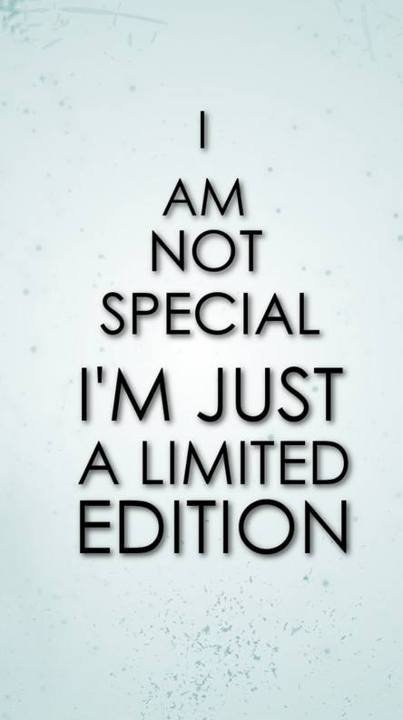 I am not special