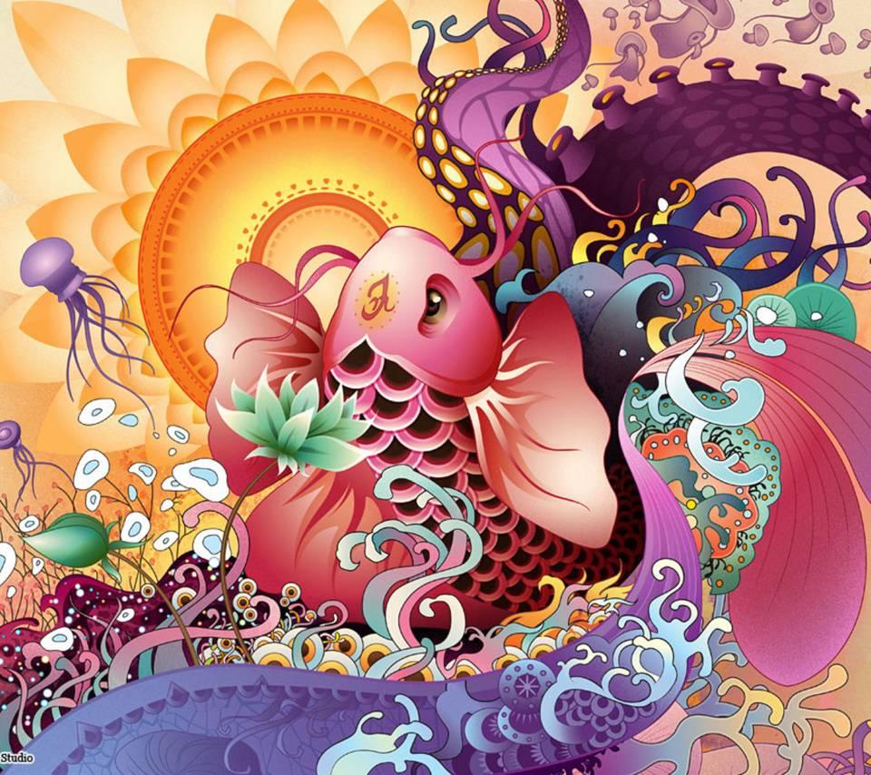 Colorful Koi