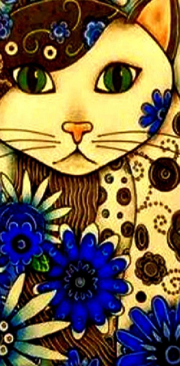 kat in Blue