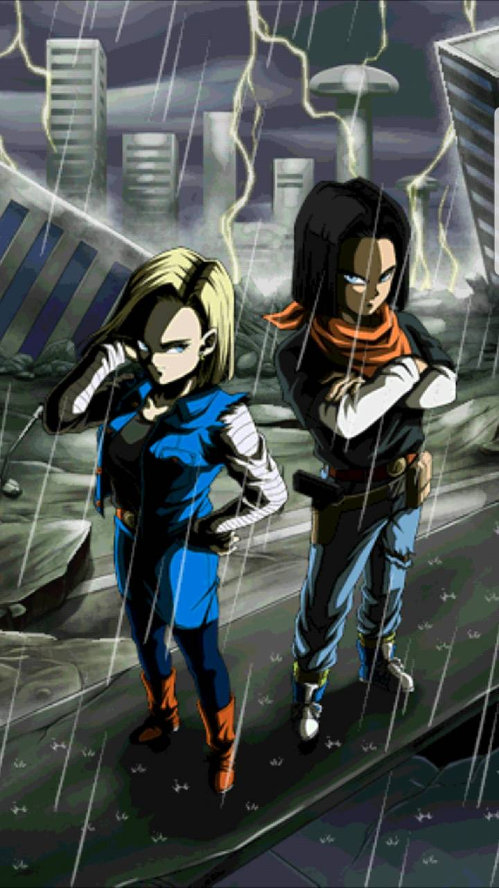 Android 17 And 18 Wallpaper By Dragonball Art Ad Free On Zedge