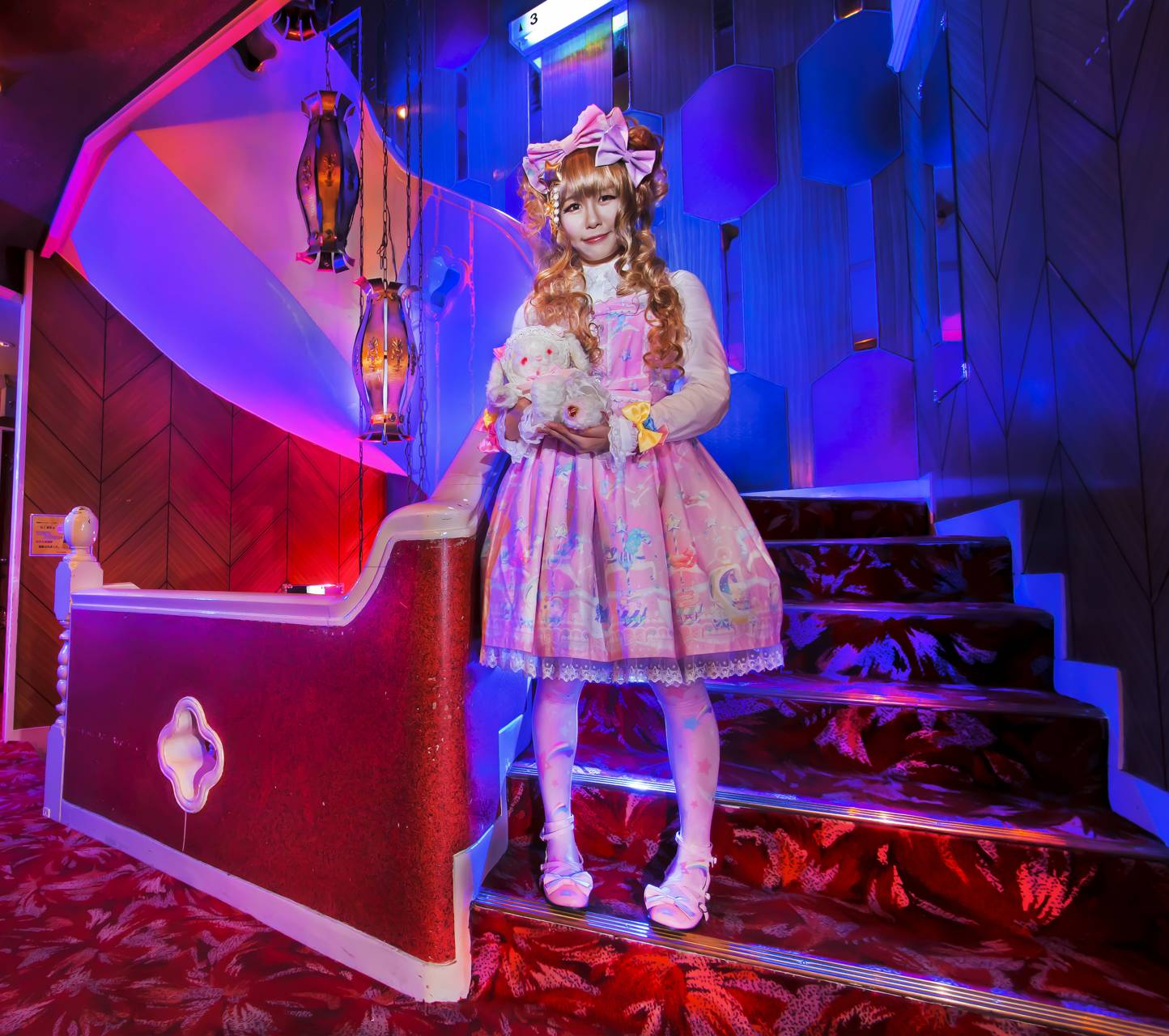 Lolita On Stairs