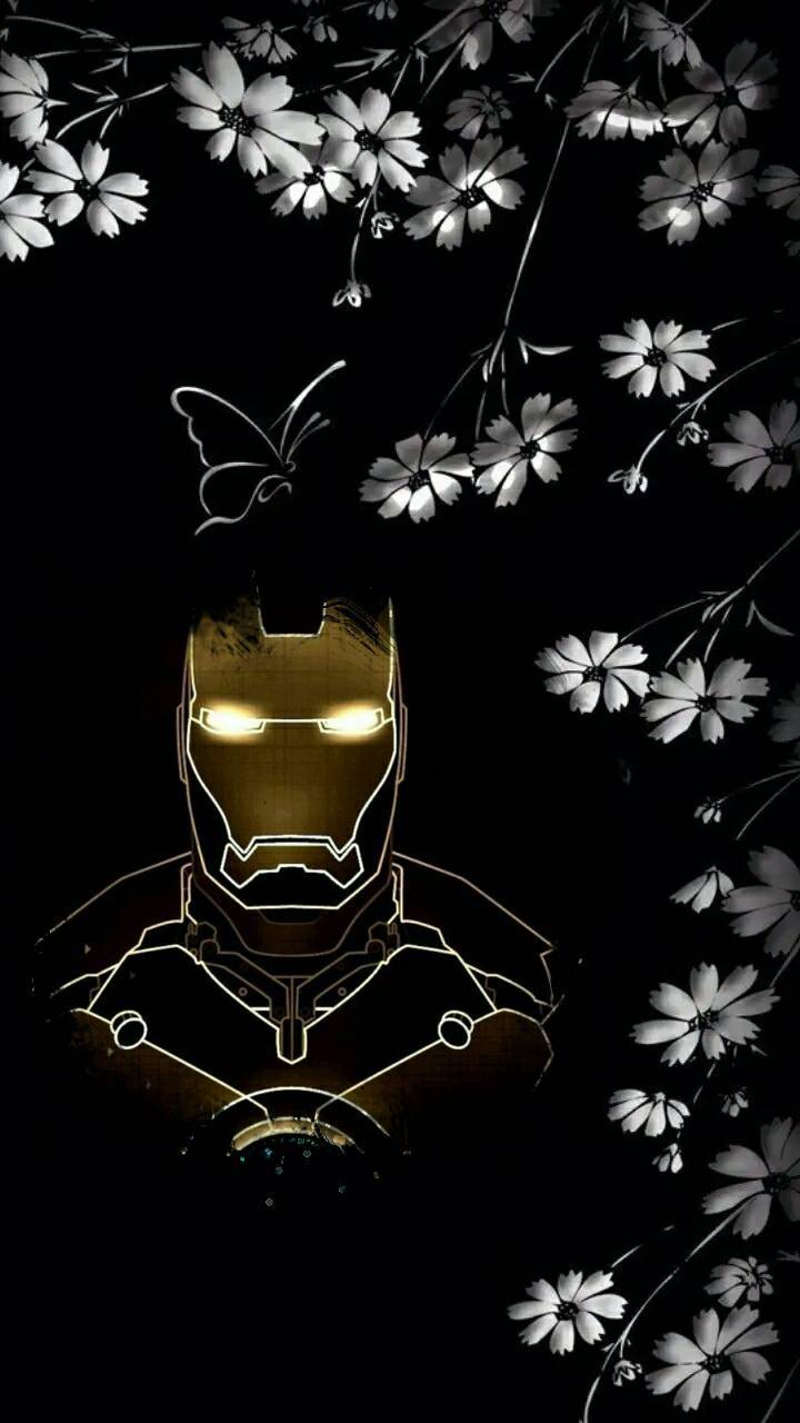 Floral Iron Man