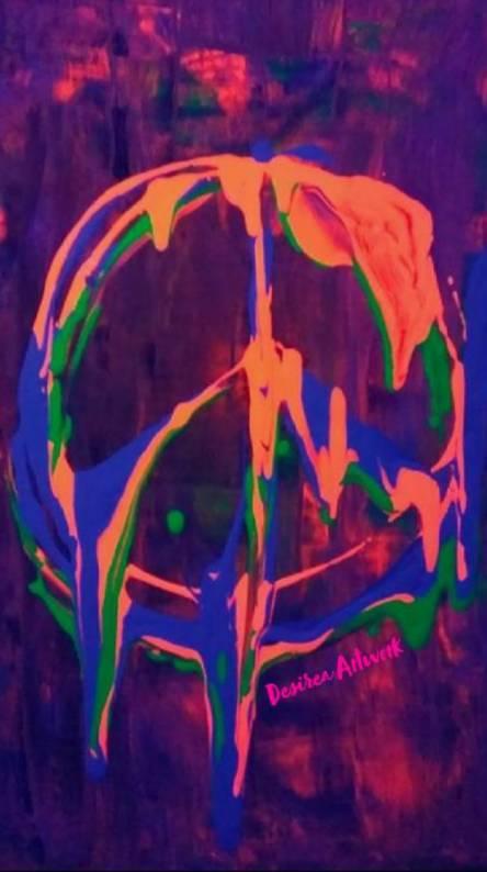 Peace Paint Pour