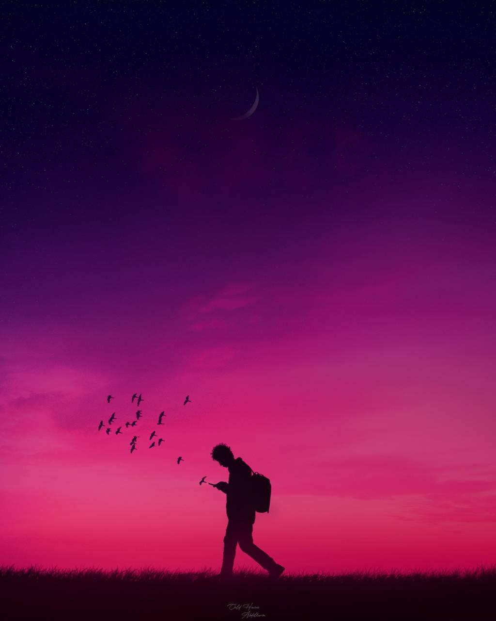 tweeting the sunset