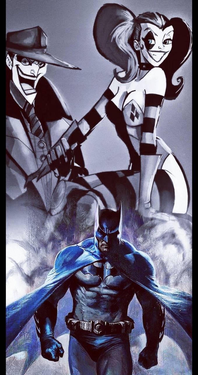 Joker batman harley