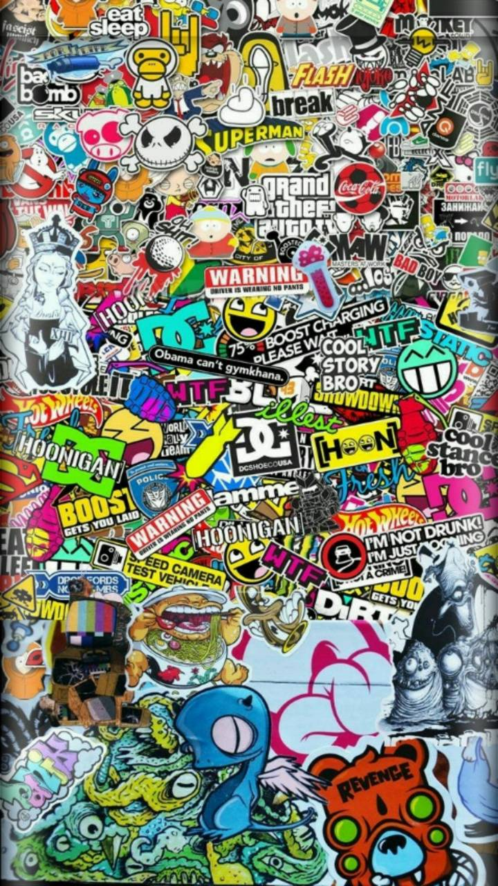 Sticker graffiti