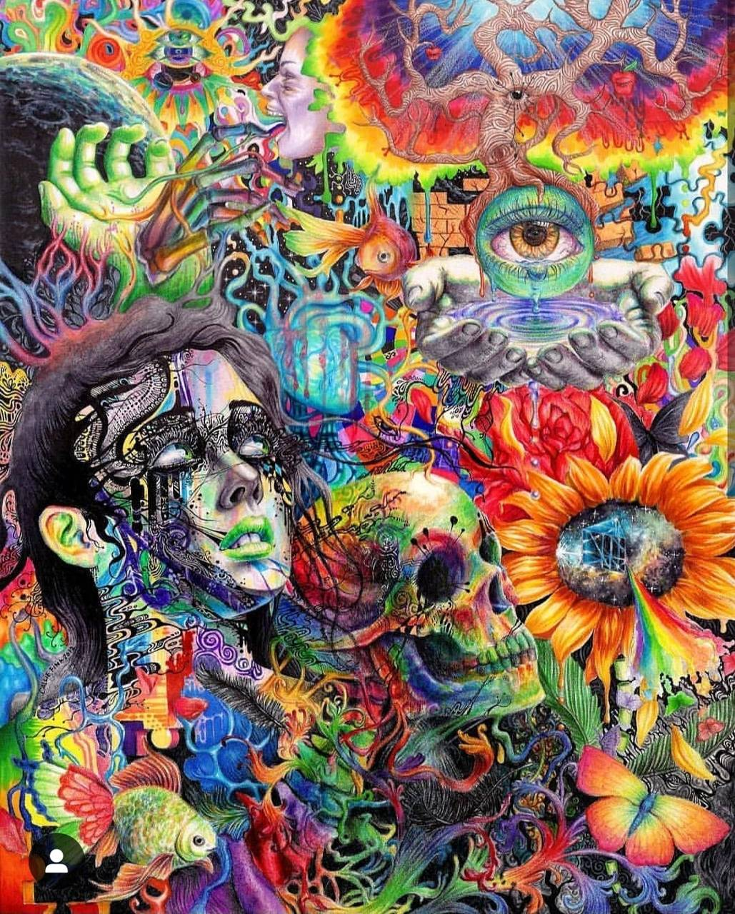 Trippy face