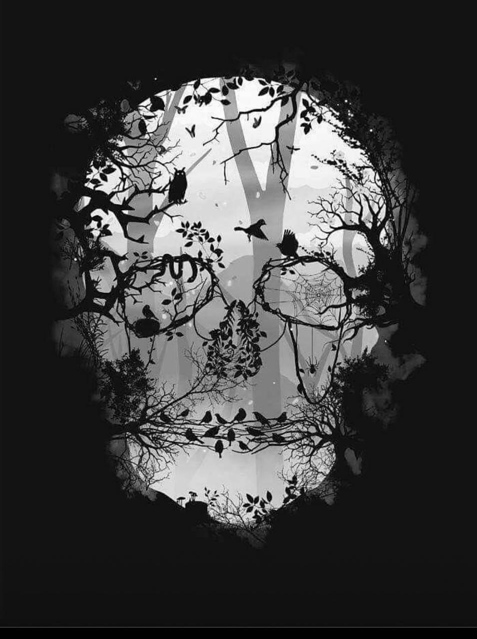 skull of trees