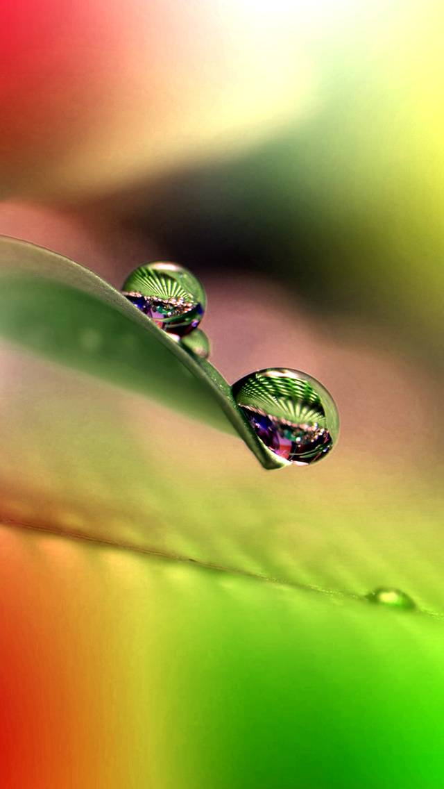 colorful raindrops wallpaper by