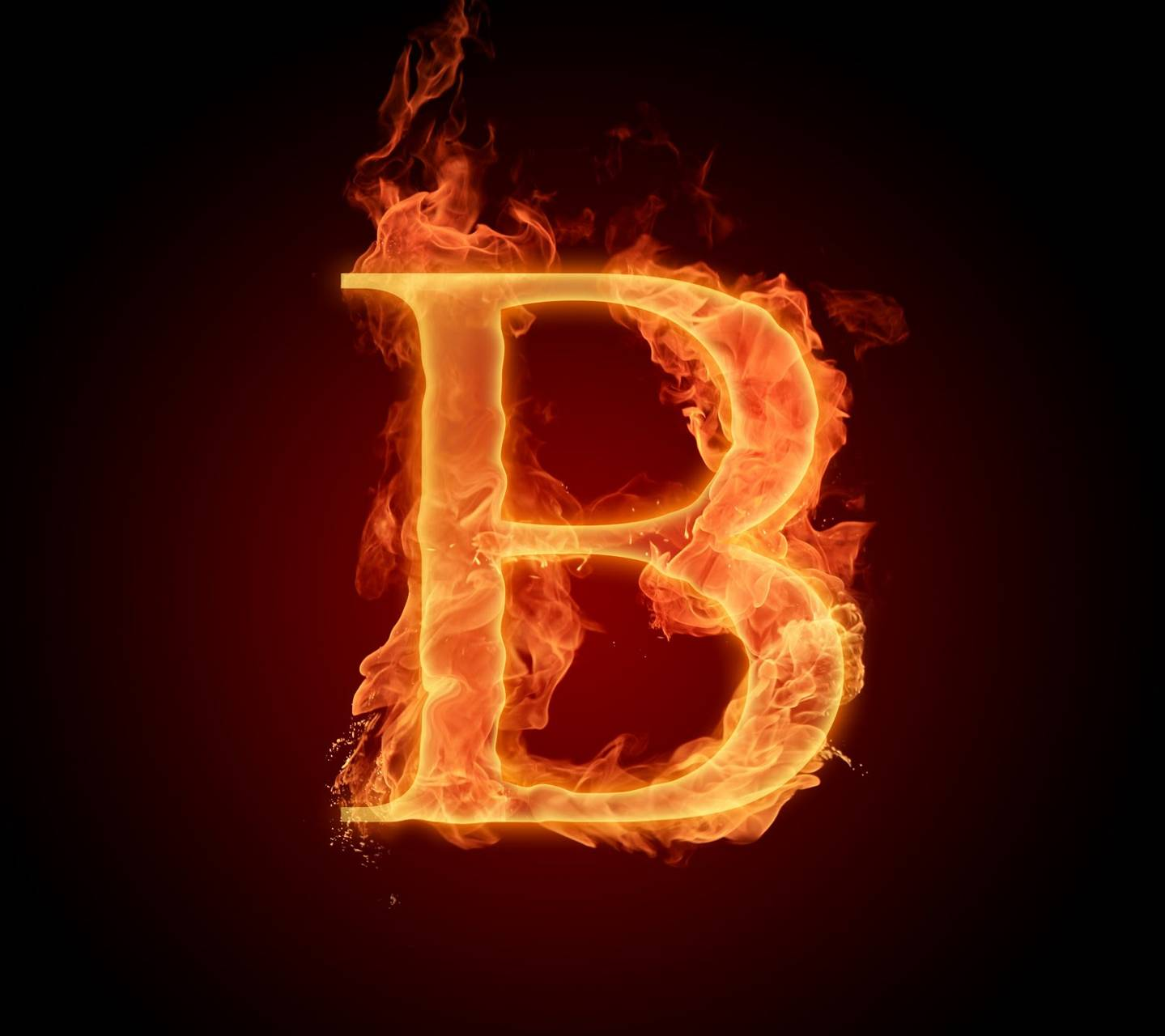 H Letter In Fire Hd Letter B In Fire Hd wa...