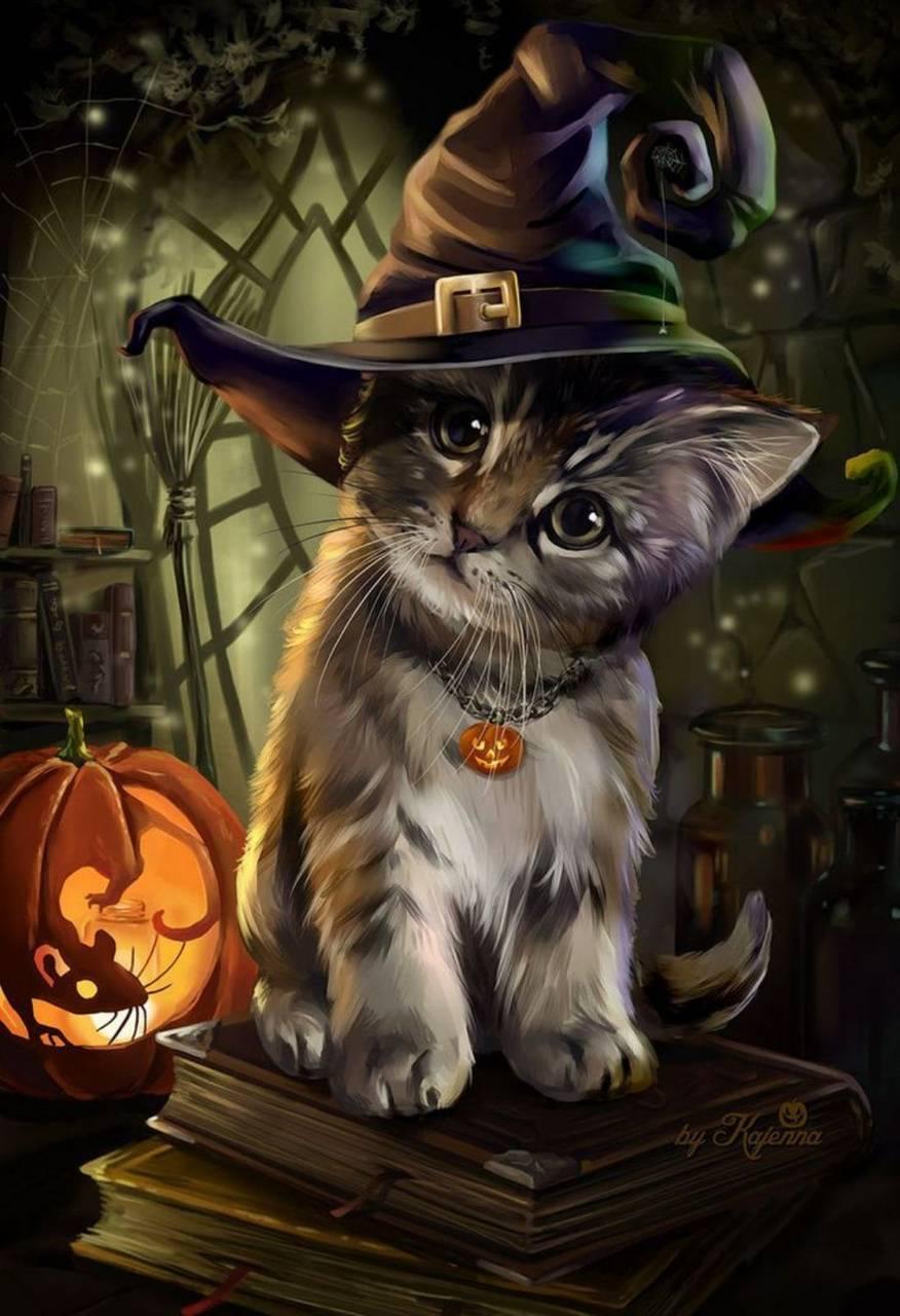Cute Halloween Kitty