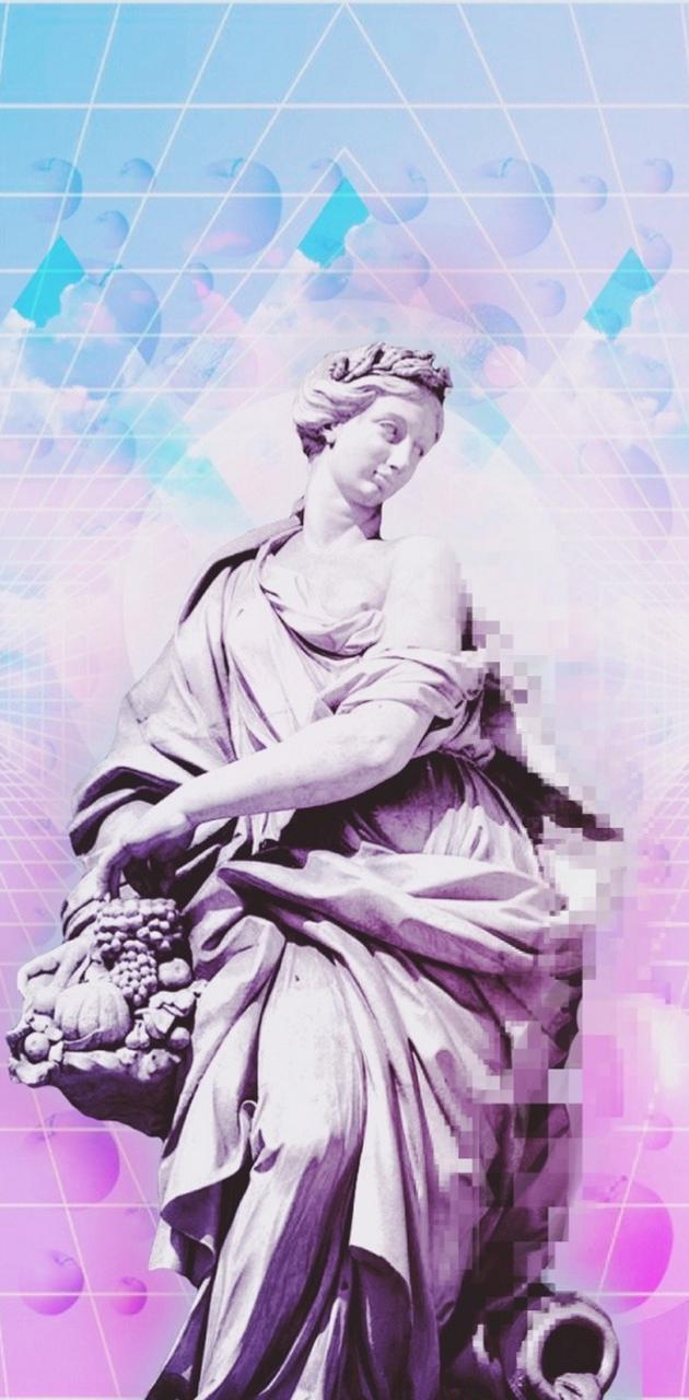 Vaporwave Statue