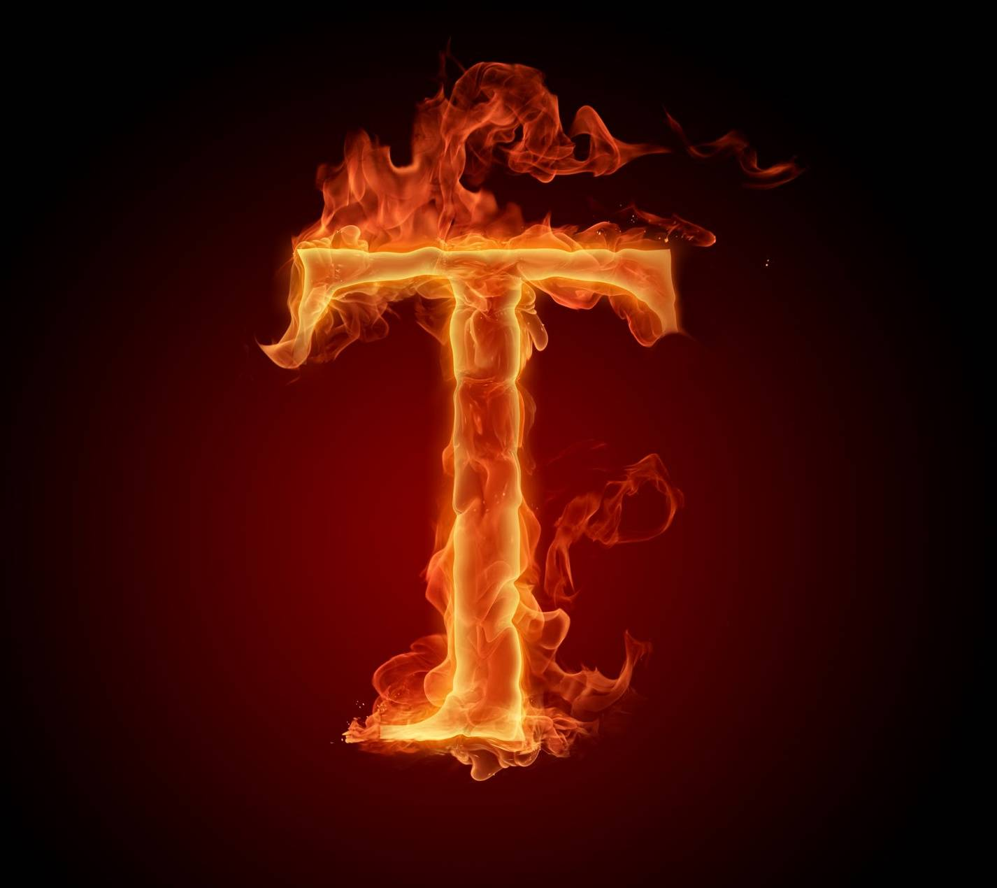 Letter t in fire hd wallpaper by mrlazy a1 free on zedge letter t in fire hd altavistaventures Gallery