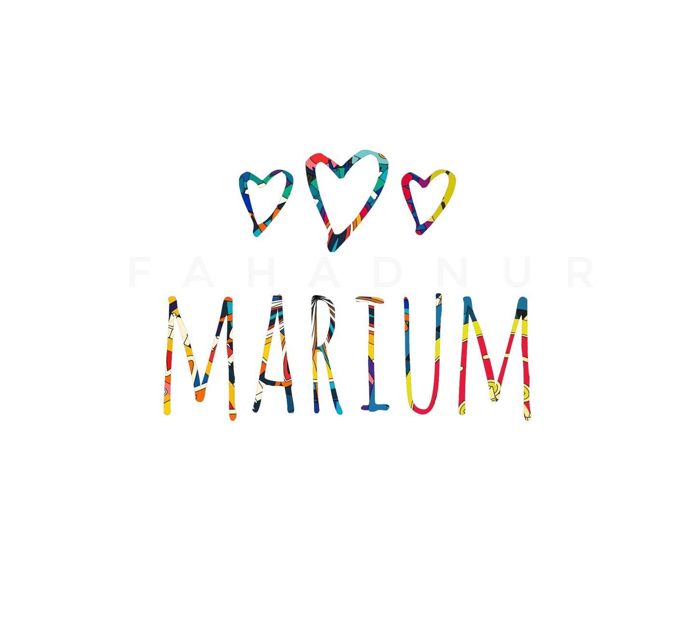 Marium - Name Art