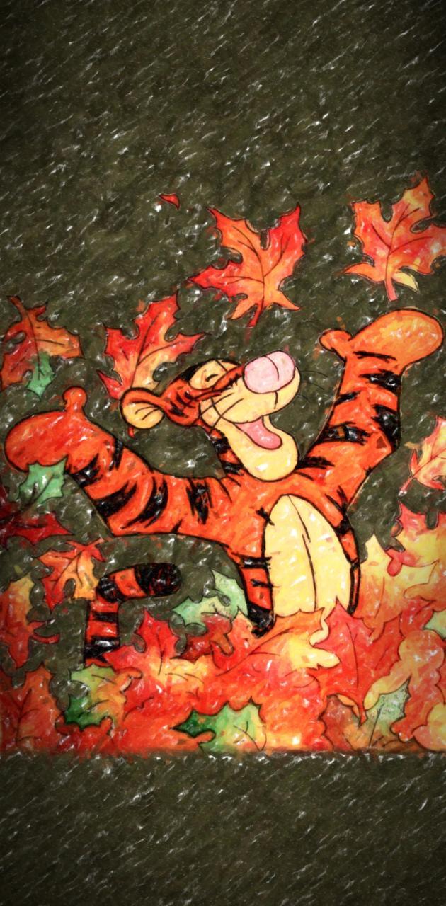 Fall Leaves Tigger