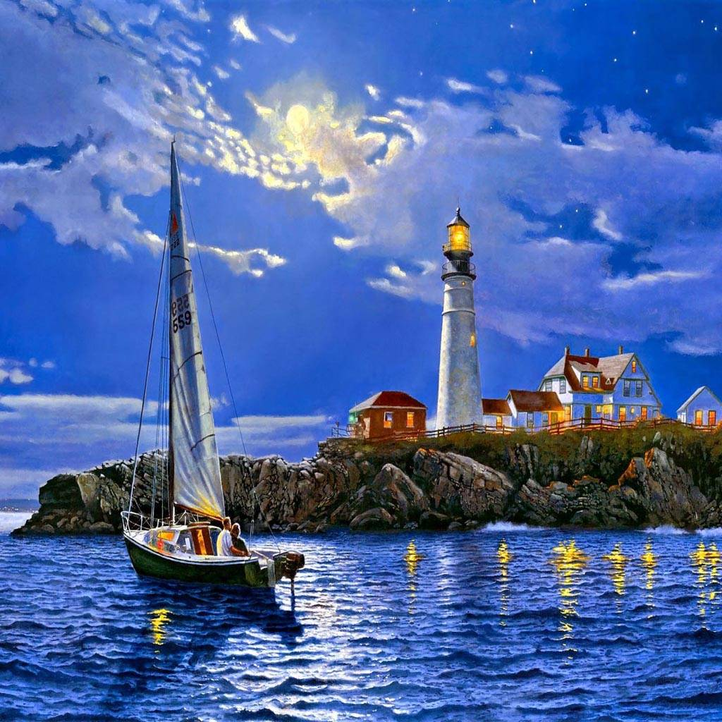 Midnight Lighthouse
