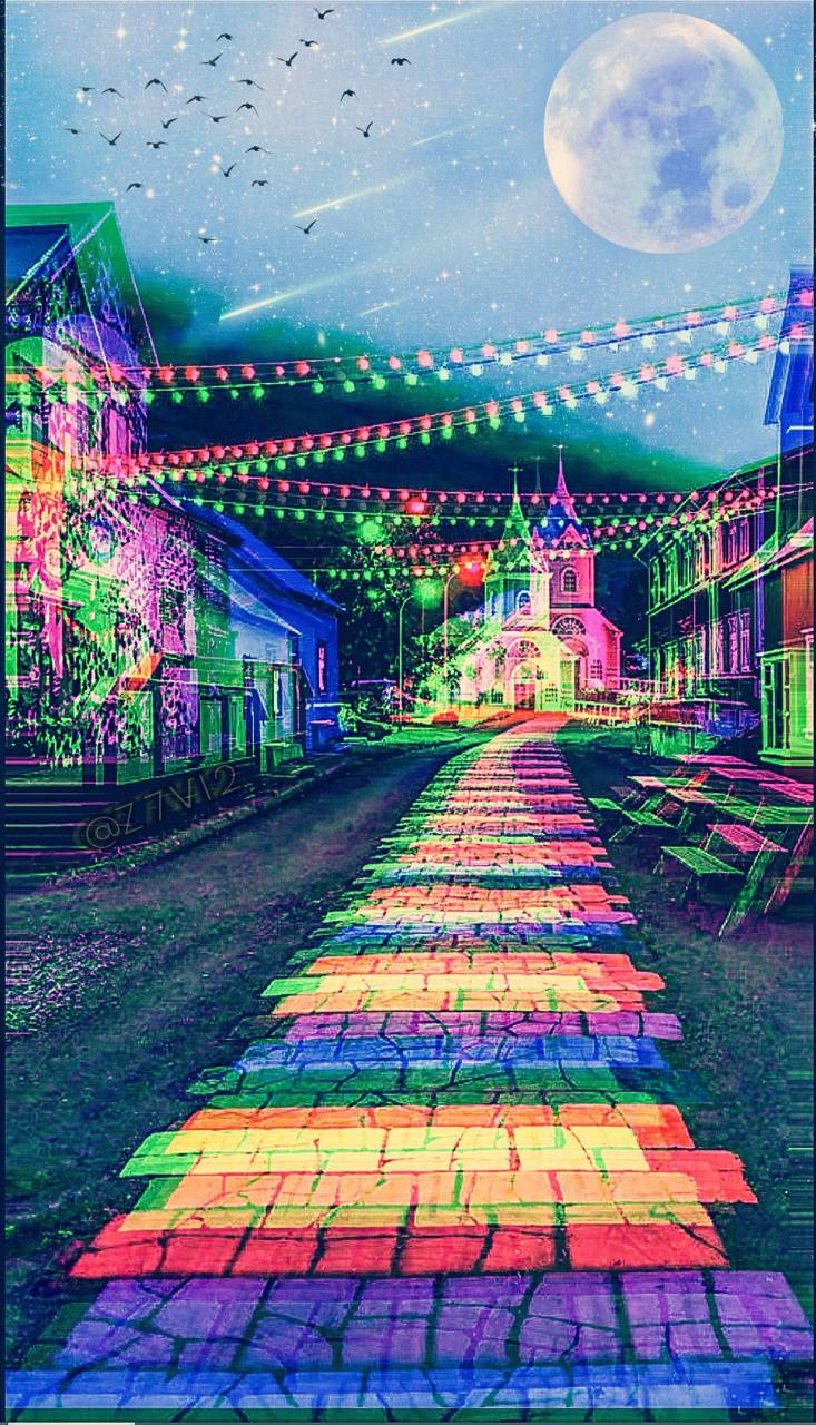 Glitch Rainbow Path