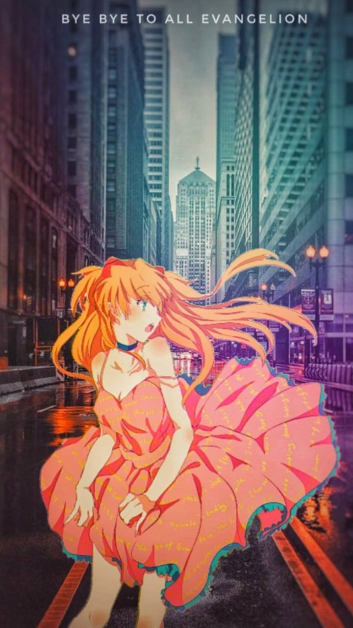 Asuka on the city