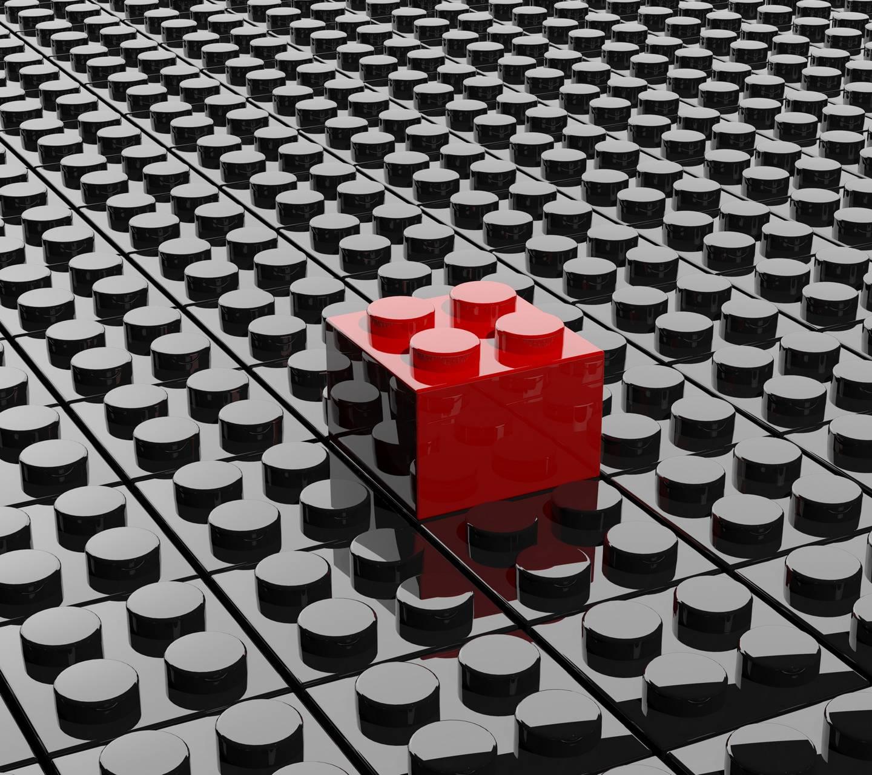 Black Red Lego