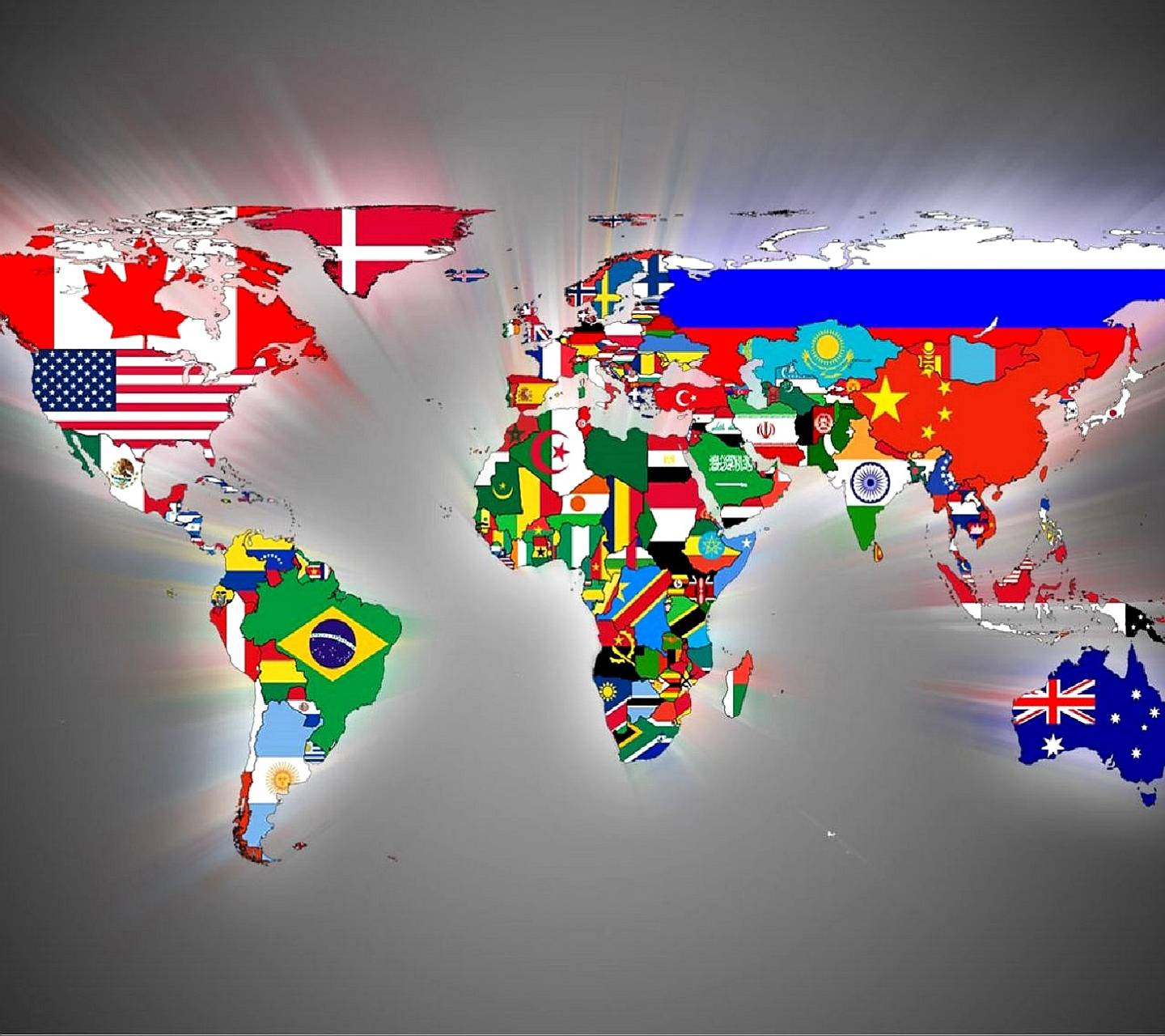 flags world map
