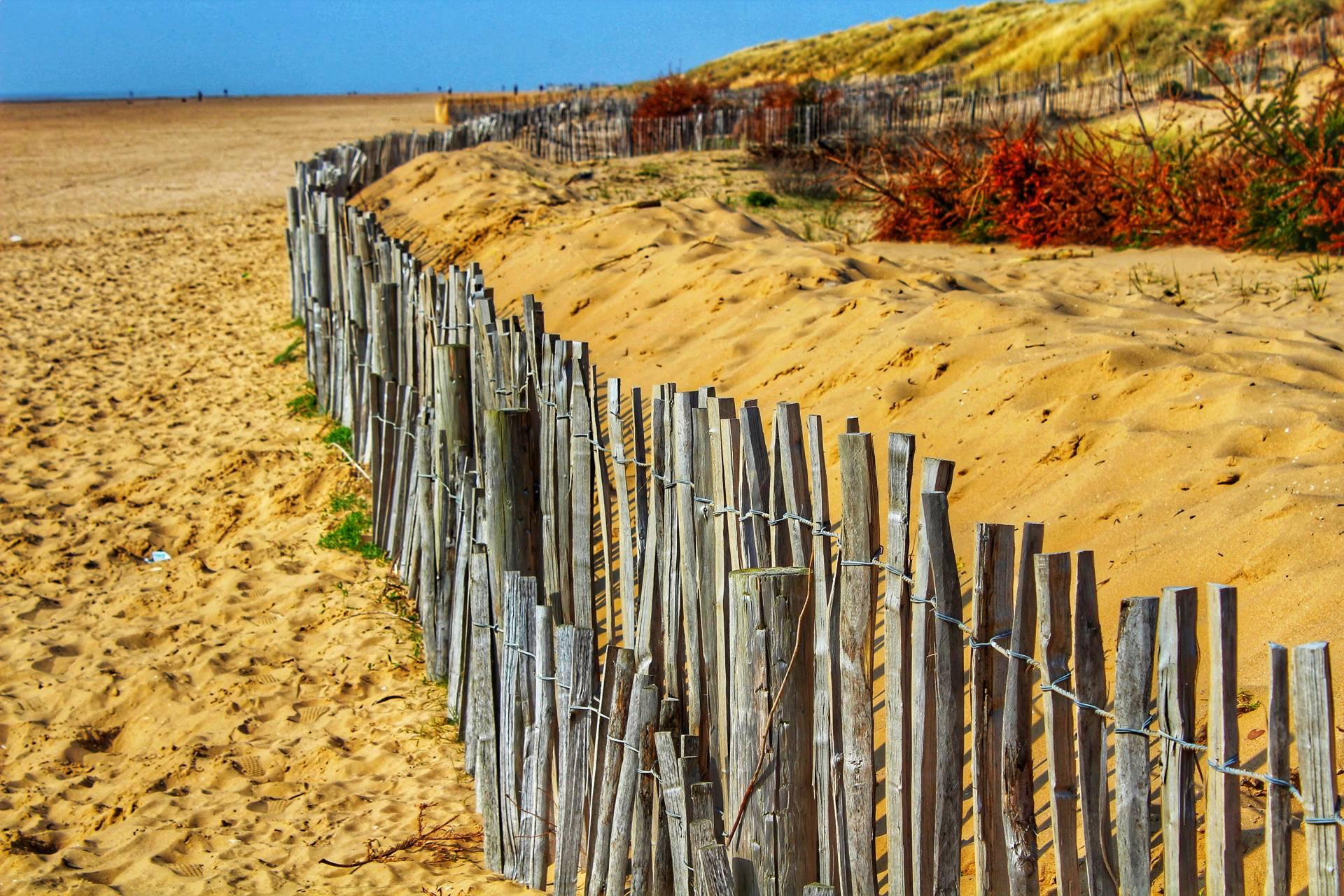 Sandy fence