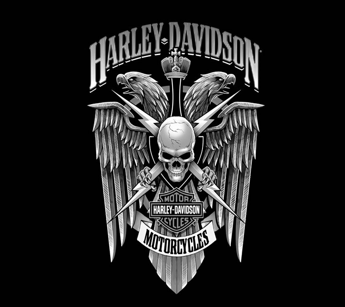 Download free harley davidson wallpapers for your mobile phone harley skull logo voltagebd Choice Image