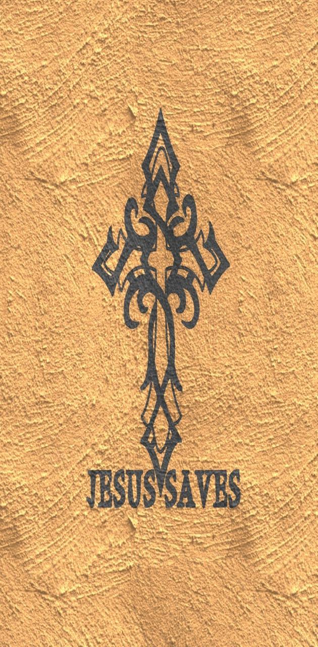 Jesus Cross Tan