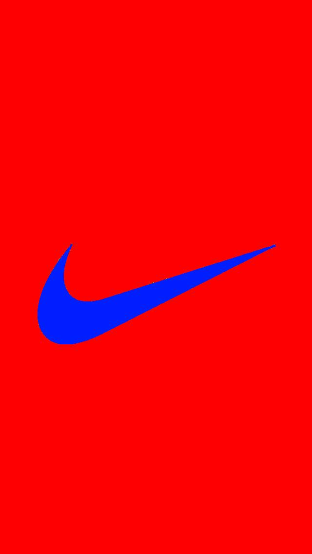 Blue and Red Nike