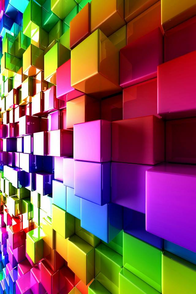 Colorful 3D Cubes