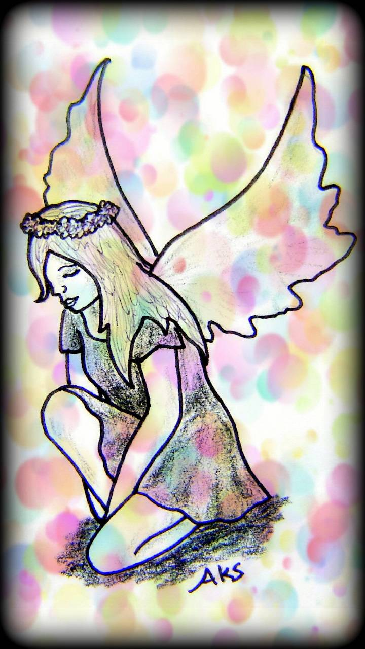 Kneeling Fairy Girl