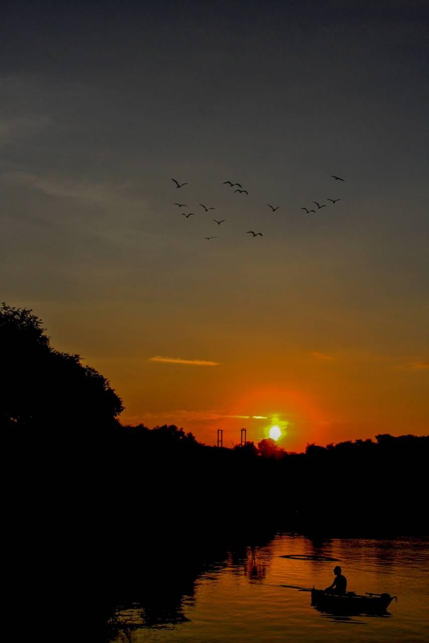 Sun set in india