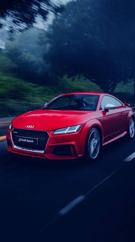 Audi in red